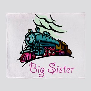 Big Sister Rolling Train Throw Blanket