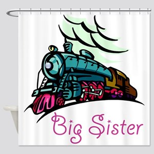 Big Sister Rolling Train Shower Curtain
