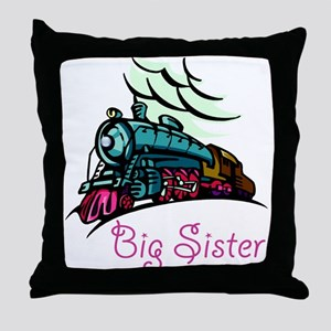 Big Sister Rolling Train Throw Pillow