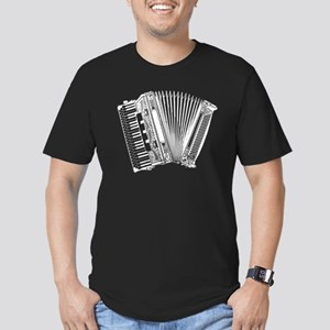 Accordion Squeezebox Men's Fitted T-Shirt (dark)