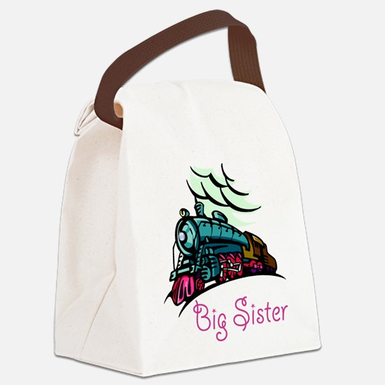 Big Sister Rolling Train Canvas Lunch Bag