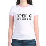 OPEN G - IT'S WHAT I DO Jr. Ringer T-Shirt