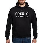OPEN G - IT'S WHAT I DO Hoodie (dark)