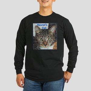Seurat's Cat Long Sleeve Dark T-Shirt