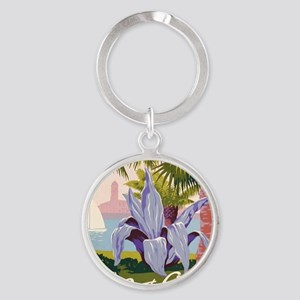 Discover Puerto Rico Round Keychain