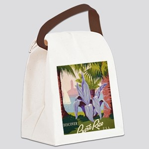Discover Puerto Rico Canvas Lunch Bag