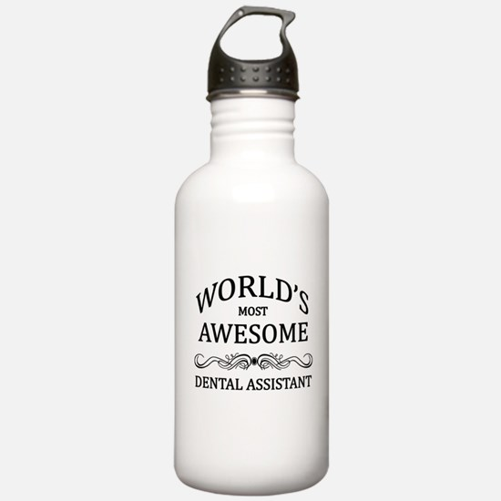 World's Most Awesome Dental Assistant Water Bottle