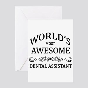 World's Most Awesome Dental Assistant Greeting Car