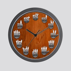 Wood Signed Wall Clock