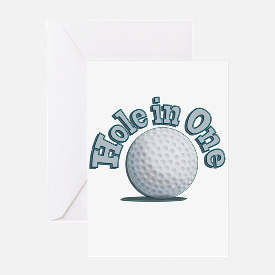 Hole in One (txt) Greeting Card