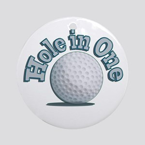 Hole in One (txt) Ornament (Round)