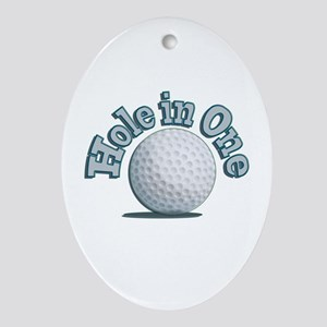 Hole in One (txt) Ornament (Oval)