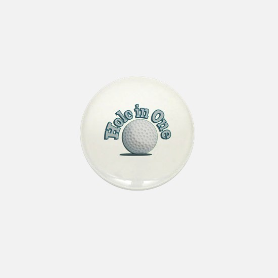 Hole in One (txt) Mini Button