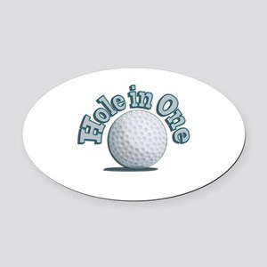 Hole in One (txt) Oval Car Magnet