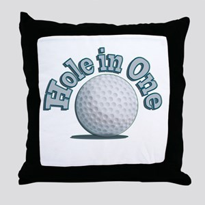 Hole in One (txt) Throw Pillow