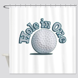 Hole in One (txt) Shower Curtain