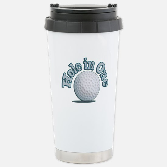 Hole in One (txt) Travel Mug
