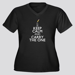 Keep Calm Math Plus Size T-Shirt