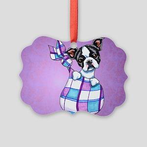 New Boston Puppy Ornament