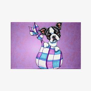 New Boston Puppy Rectangle Magnet