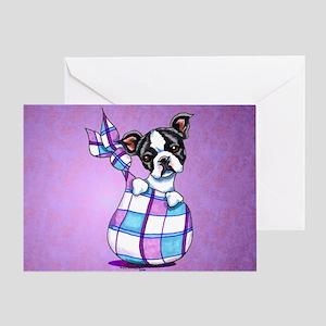 New Boston Puppy Greeting Card