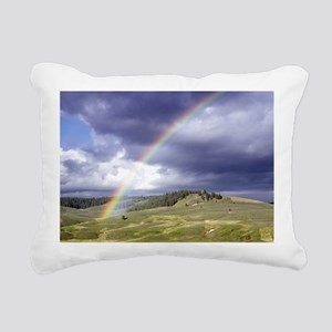 Rainbow Landscape Rectangular Canvas Pillow