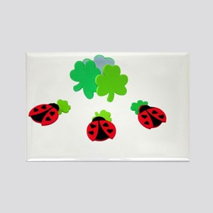 Lucky Ladybugs Rectangle Magnet