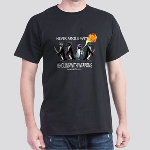 Penguins with Weapons Dark T-Shirt