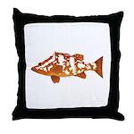 Nassau Grouper f Throw Pillow
