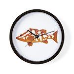 Nassau Grouper f Wall Clock