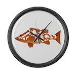 Nassau Grouper f Large Wall Clock