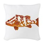 Nassau Grouper f Woven Throw Pillow