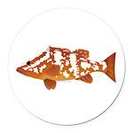 Nassau Grouper f Round Car Magnet