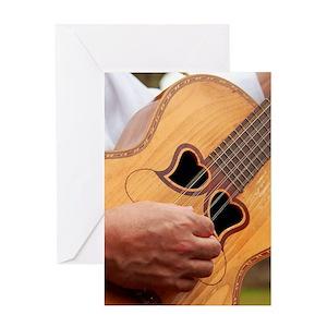 Guitar shaped greeting cards cafepress m4hsunfo