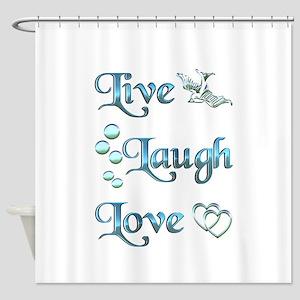 Live Laugh Love Shower Curtain