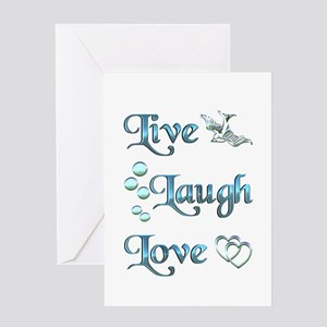 Live Laugh Love Greeting Card