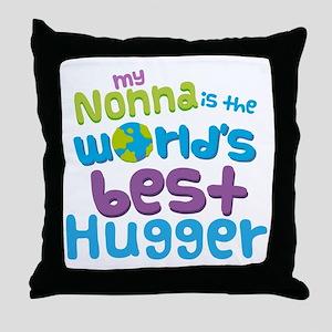 Nonna World's best Hugger Throw Pillow