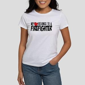 My Heart Belongs to Firefighter T-Shirt