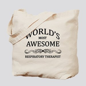 World's Most Awesome Respiratory Therapist Tote Ba
