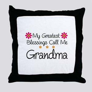 Blessings Grandma Throw Pillow