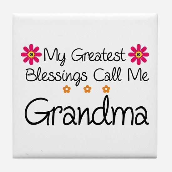 Blessings Grandma Tile Coaster