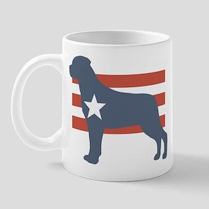 Patriotic Rottweiler Mug