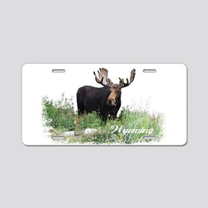 Wyoming Moose Aluminum License Plate