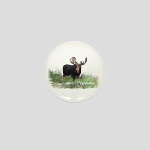 Wyoming Moose Mini Button