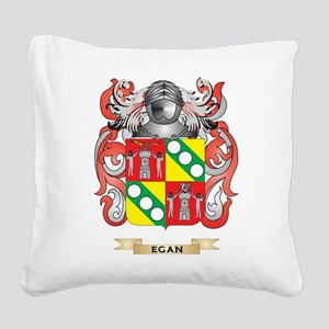 Egan Coat of Arms Square Canvas Pillow