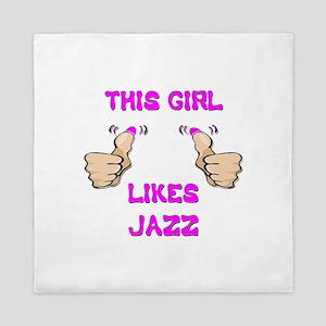 This Girl Likes Jazz Queen Duvet