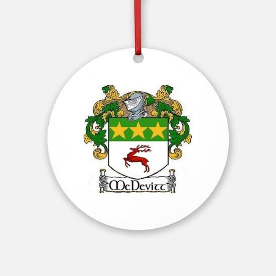 McDevitt Coat of Arms Ornament (Round)