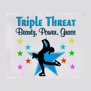 FIGURE SKATER Throw Blanket