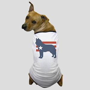 Patriotic Siberian Husky Dog T-Shirt