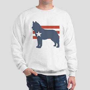 Patriotic Siberian Husky Sweatshirt